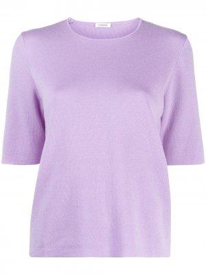 Short-sleeve knit top P.A.R.O.S.H.. Цвет: фиолетовый