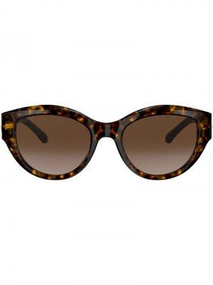 Солнцезащитные очки Serpenti Bvlgari. Цвет: черный