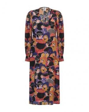 Платье длиной 3/4 ATTIC AND BARN. Цвет: черный