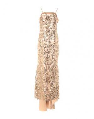 Длинное платье RINASCIMENTO. Цвет: золотистый