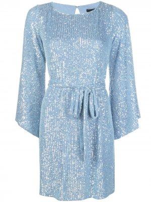 Платье мини Maggie с пайетками Jay Godfrey. Цвет: синий