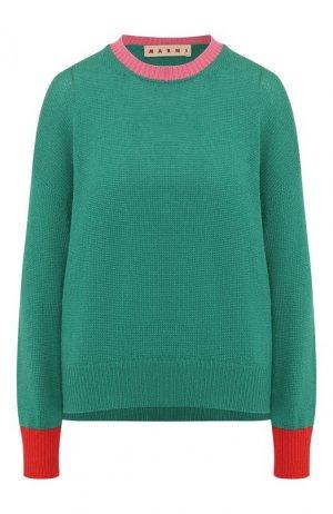 Кашемировый пуловер Marni. Цвет: зеленый