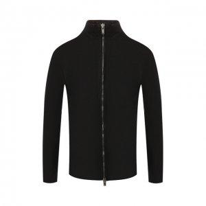 Кожаная куртка 10sei0otto. Цвет: чёрный