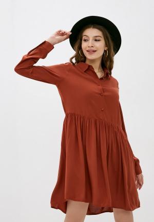 Платье Fresh Made. Цвет: коричневый