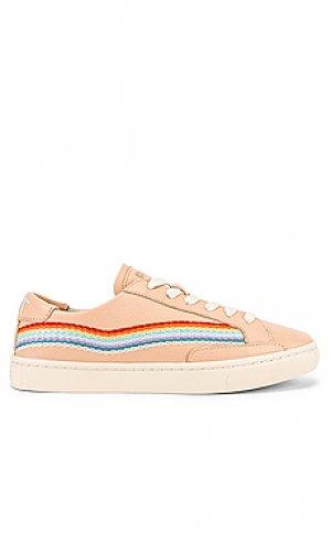 Кроссовки rainbow wave Soludos. Цвет: румянец