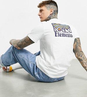 Белая футболка с принтом на спине Wander эксклюзивно для ASOS-Белый Element