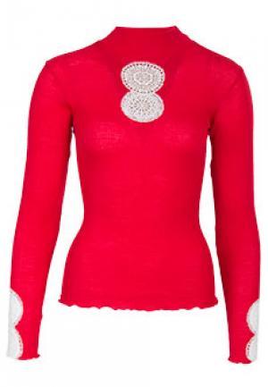 Блуза BONA DEA. Цвет: красный