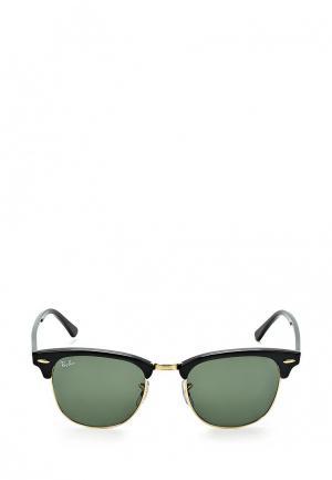 Очки солнцезащитные Ray-Ban® Clubmaster. Цвет: черный