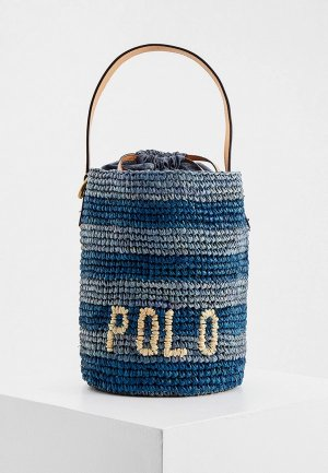 Сумка Polo Ralph Lauren. Цвет: синий
