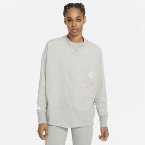 Женский кардиган из материала френч терри Sportswear Femme - Серый Nike