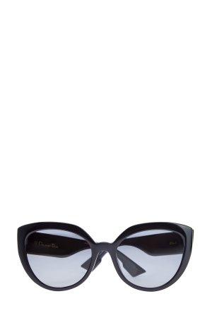 Солнцезащитные очки DDiorF с символикой на дужках DIOR (sunglasses) women. Цвет: черный