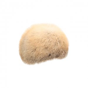 Шапка Шарик из меха лисы FurLand. Цвет: бежевый