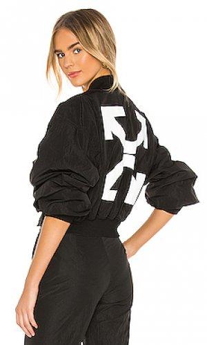 Куртка бомбер nylon OFF-WHITE. Цвет: черный