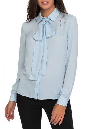 Блуза Gloss. Цвет: голубой
