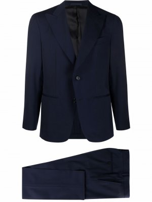 Костюм с однобортным пиджаком Caruso. Цвет: синий