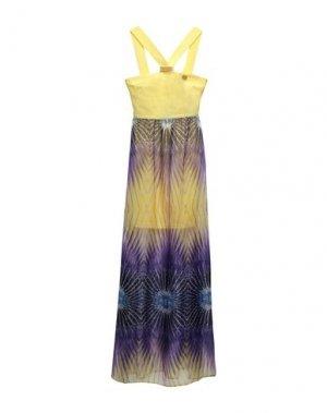 Длинное платье MANGANO. Цвет: желтый