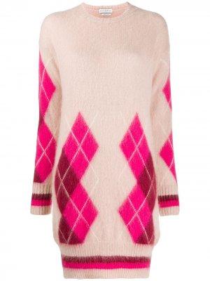 Платье с узором аргайл Ballantyne. Цвет: розовый
