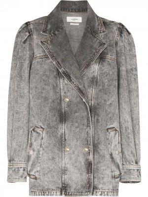 Джинсовая куртка Lucinda Isabel Marant Étoile. Цвет: серый