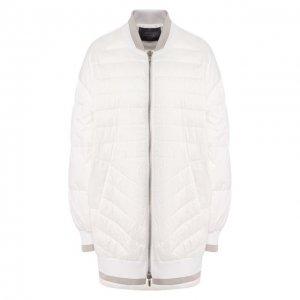 Пуховая куртка Lorena Antoniazzi. Цвет: белый