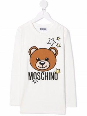 Футболка Teddy Bear Moschino Kids. Цвет: белый