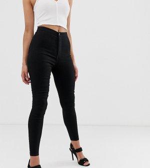 Супероблегающие джинсы с завышенной талией -Черный Liquor N Poker