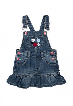 Платье джинсовое PlayToday. Цвет: синий