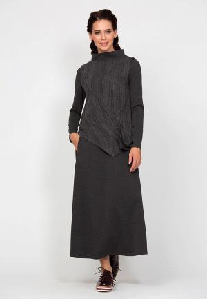 Платье D.VA MP002XW1GPA4. Цвет: серый