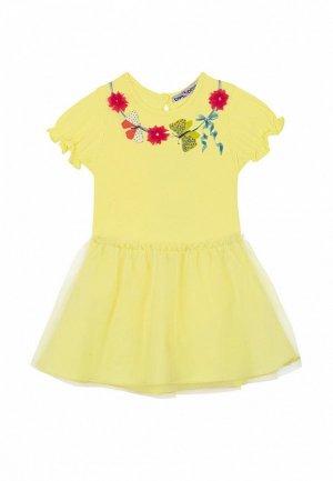 Платье Bell Bimbo. Цвет: желтый
