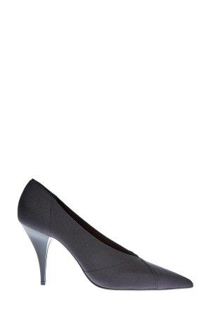 Туфли-лодочки из лайкры с шелковой текстурой и каблуком Delfina CASADEI. Цвет: черный