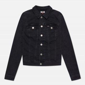 Женская джинсовая куртка Vivianne Slim Denim Trucker Tommy Jeans. Цвет: чёрный