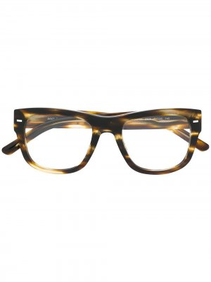 Очки в квадратной оправе Dolce & Gabbana Eyewear. Цвет: коричневый