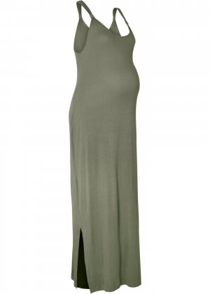 Платье для беременных bonprix. Цвет: зеленый
