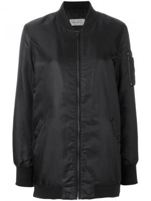 Свободная куртка-бомбер Ck Jeans. Цвет: черный
