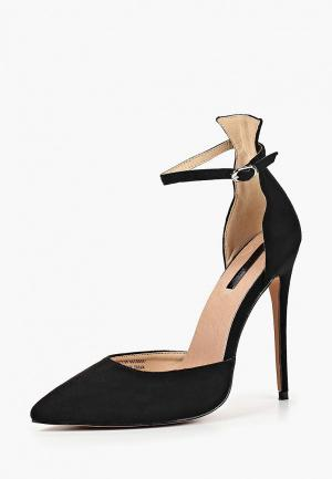 Туфли LOST INK ANKLE STRAP STILETTO COURT. Цвет: черный