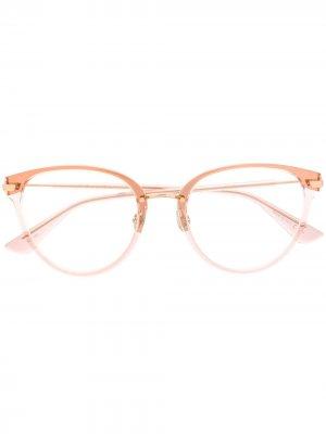 Очки Diorline 2 в круглой оправе Dior Eyewear. Цвет: розовый