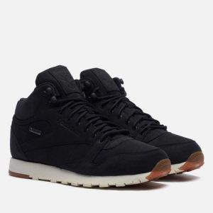 Мужские кроссовки Classic Leather Mid Gore-Tex Thin Reebok. Цвет: чёрный