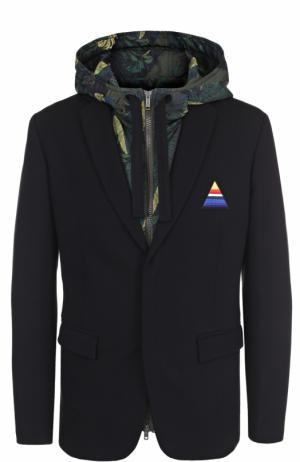 Однобортный пиджак из вискозы с утепленной подстежкой Iceberg. Цвет: черный