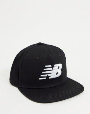 Черная бейсболка с логотипом -Черный цвет New Balance