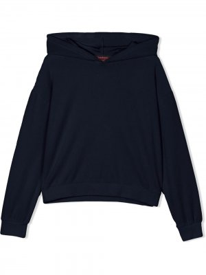 Пуловер Swarovski с капюшоном Juicy Couture Kids. Цвет: синий