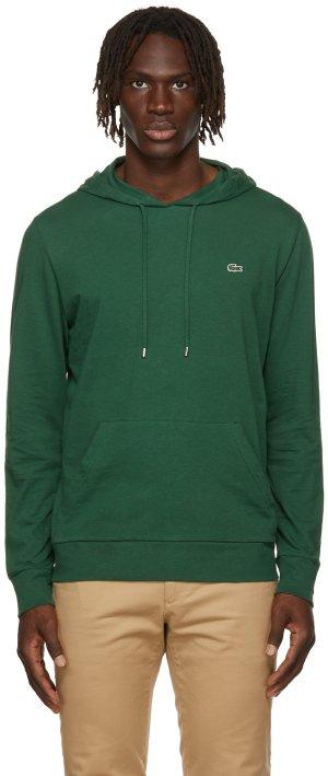 Green Jersey Logo Hoodie Lacoste. Цвет: 132 vert