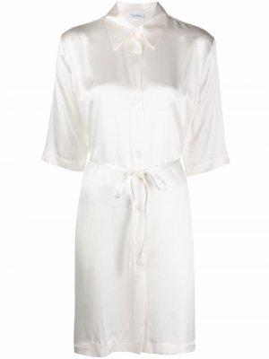 Ночная сорочка с завязками La Perla. Цвет: белый