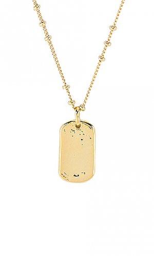 Ожерелье griffin gorjana. Цвет: металлический золотой
