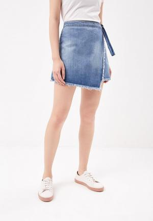 Юбка джинсовая Roxy. Цвет: голубой