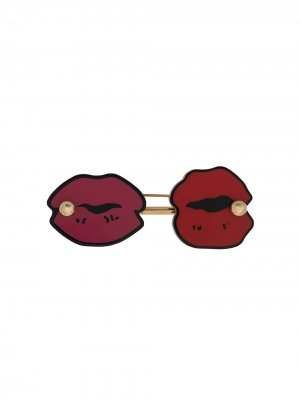 Брошь Lipstick Kisses Marni. Цвет: золотистый