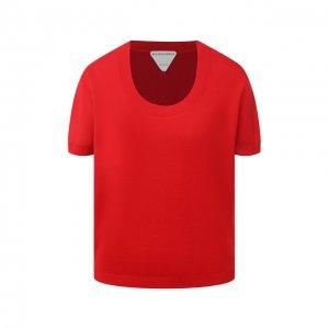 Футболка Bottega Veneta. Цвет: красный