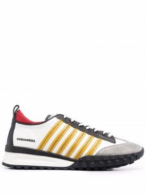 Кроссовки с контрастными полосками Dsquared2. Цвет: серый