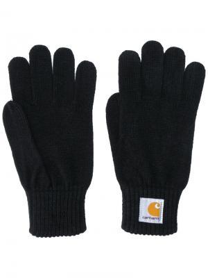 Классические перчатки Carhartt. Цвет: чёрный