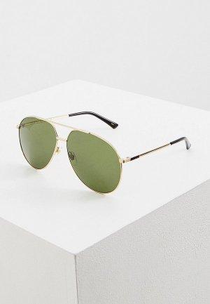 Очки солнцезащитные Gucci GG0832S. Цвет: золотой