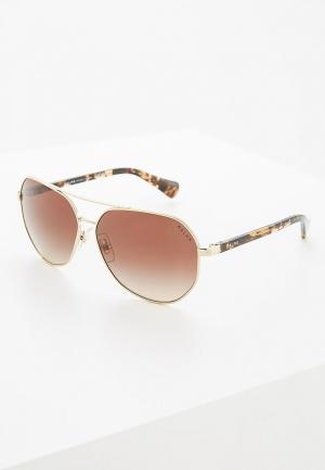 Очки солнцезащитные Ralph Lauren RA4123 324613. Цвет: золотой