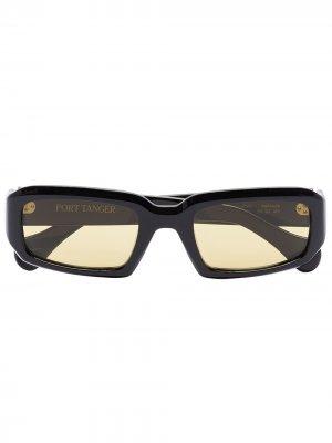 Солнцезащитные очки Mektoub в прямоугольной оправе Port Tanger. Цвет: черный